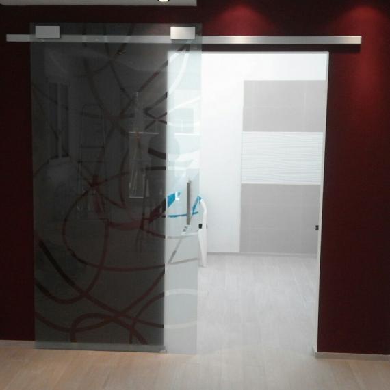 Porta scorrevole vetro temperato Serramanna