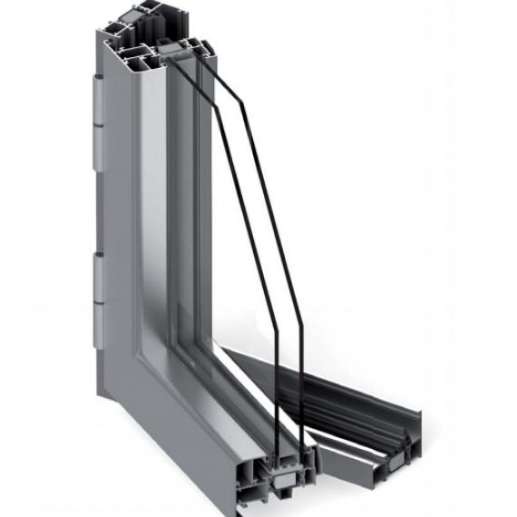 finestra a battente alluminio taglio termico