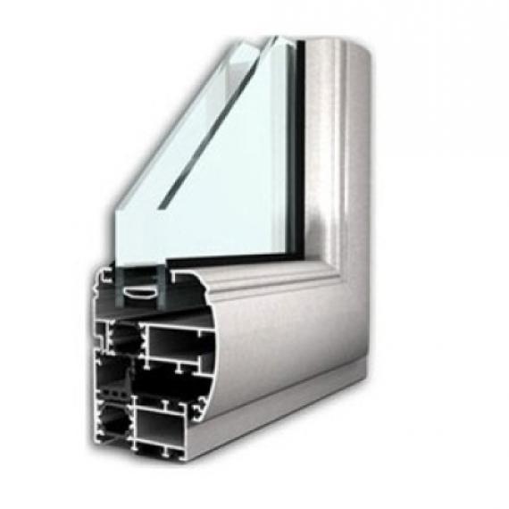 finestra battente profilo bombato alluminio taglio termico